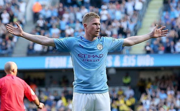 de Bruyne completed the rout with a blistering eighth late on, as City thumped Watford with ease