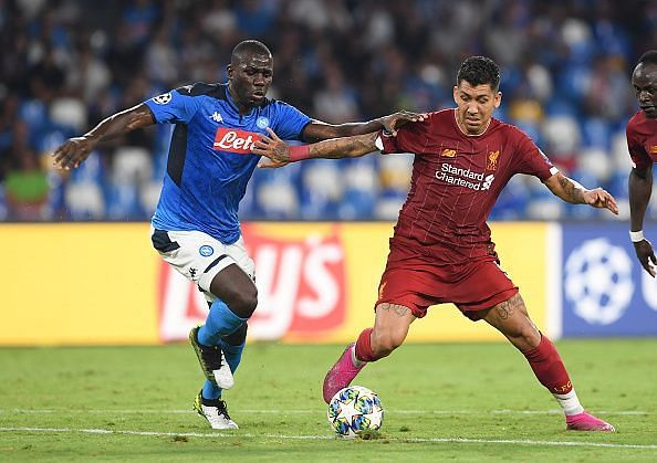Koulibaly regularly came out on top in duels against Firmino and Mane as Napoli earned a clean sheet