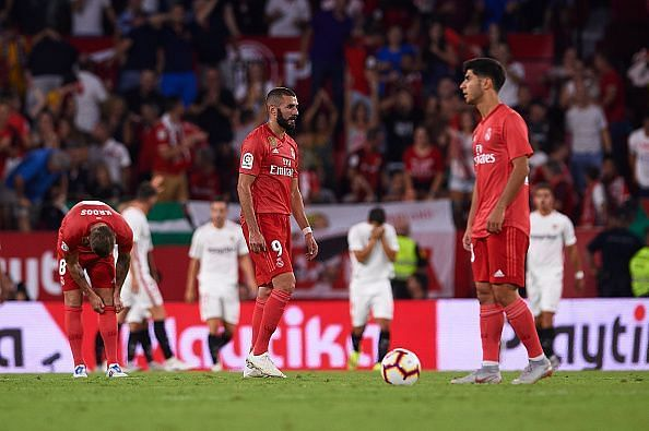 Real Madrid will be hoping for a return to form after their midweek defeat, against league leaders Sevilla