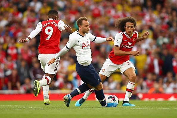 The pair pressing Eriksen out of possession typified their performances, infectious and effective throughout