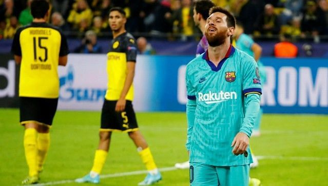 Messi featured in the second-half but was unable to inspire Barca to victory against Borussia Dortmund