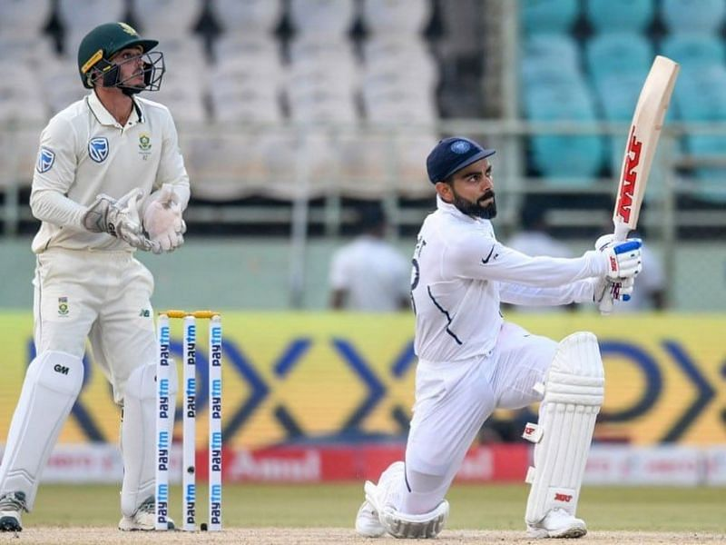 Enter captio10 Records made on the first day of the second Test Match between India and South Africa in Pune