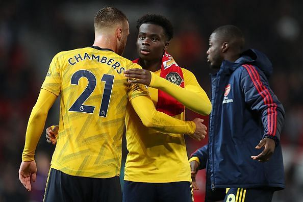 Saka became the youngest player to start an Arsenal-Manchester United game and certainly took his chance