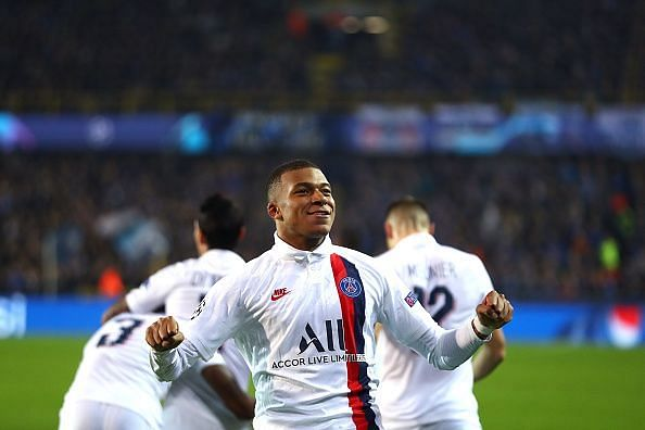 Mbappe's second-half hat-trick proved key as PSG romped to a 5-0 thrashing over Club Brugge in Group A