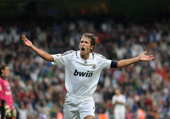 Raul recorded the most appearances for Los Blancos