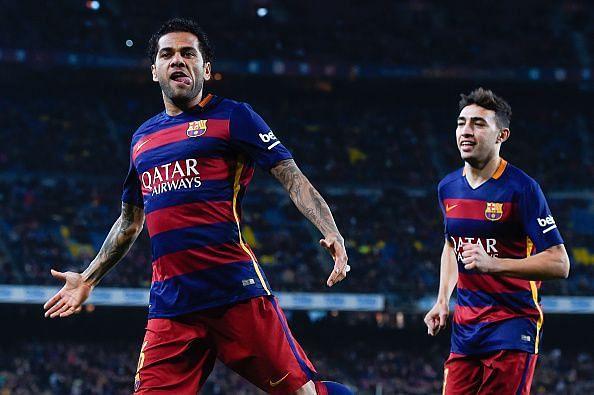Alves enjoyed a trophy-laden spell at Barca
