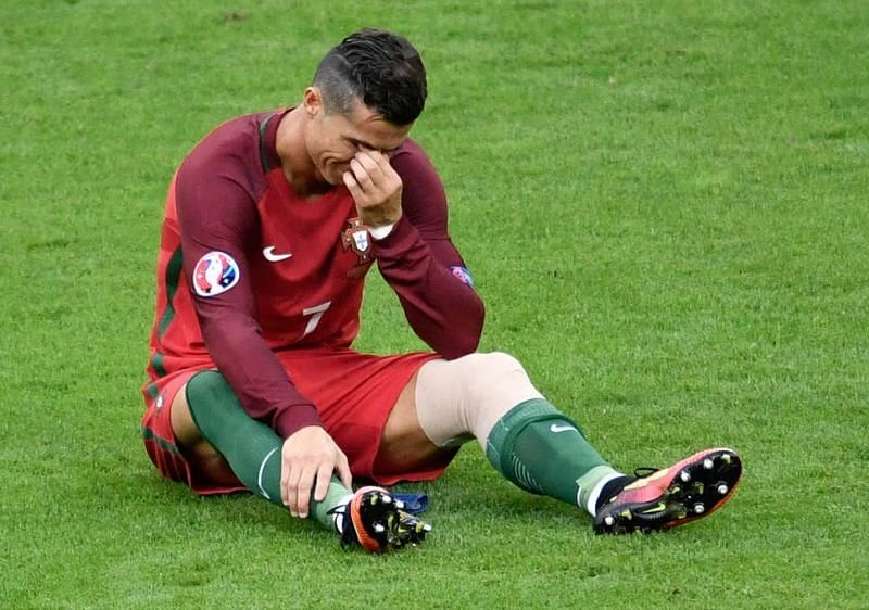 Even the GOAT cried after getting injured at the 2016 Euros final