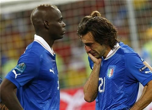Pirlo couldn't hold his tears after Italy failed to capture the Euros title