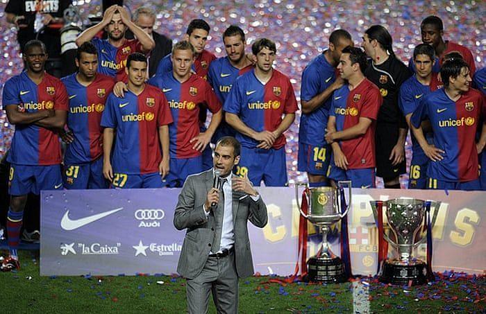 Barca won a historic sextuple during the era of Guardiola