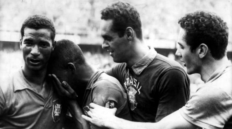 A young Pele burst into tears at the 1958 World Cup final