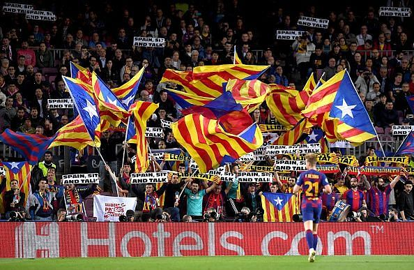 The Catalans sit second on the list