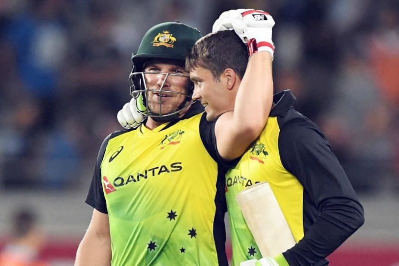 Aaron Finch and Alex Carey CSK