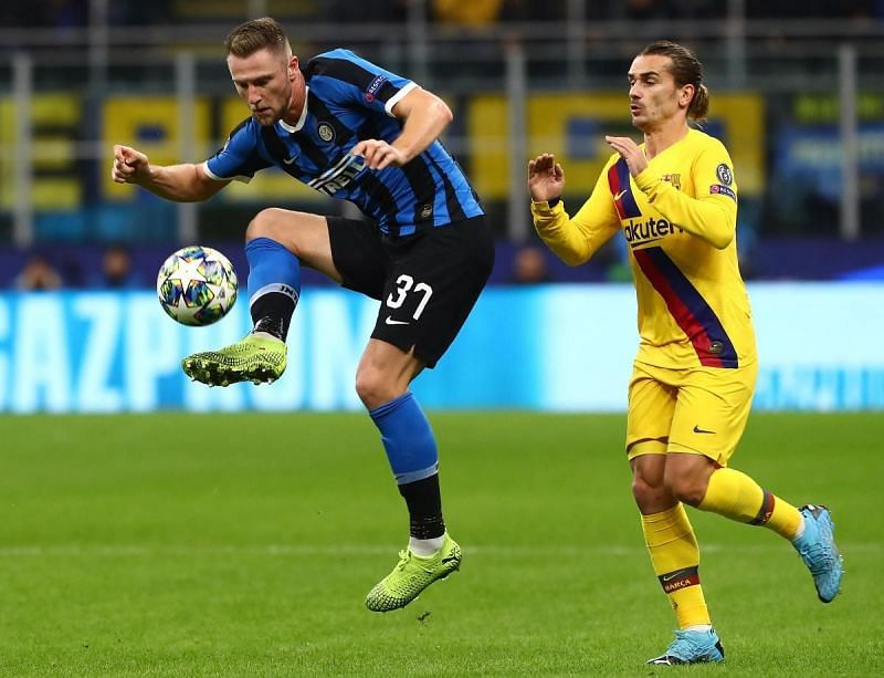 Skriniar was composed under pressure and did well to marshal Griezmann