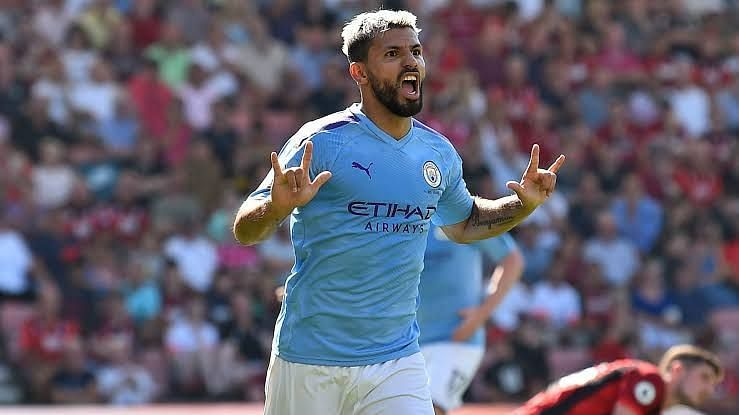 Image result for sergio aguero goals in 2019-20