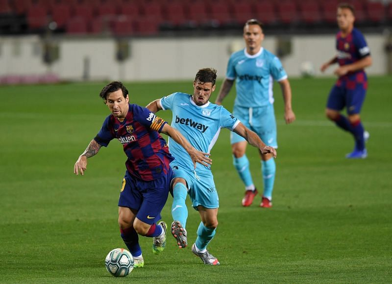 Messi was constantly a nuisance for Leganes to handle, despite efforts to double and triple up on him