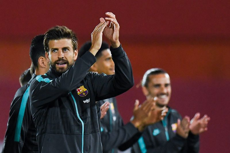 Pique lead by example at the back and helped get Barcelona through some nervy moments in danger here