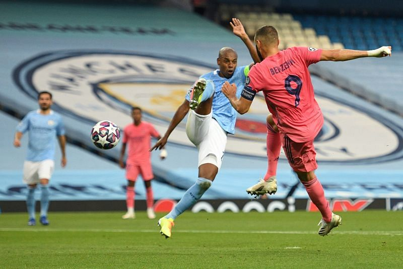 Fernandinho largely struggled against Benzema - understandably so, he's not a central defender