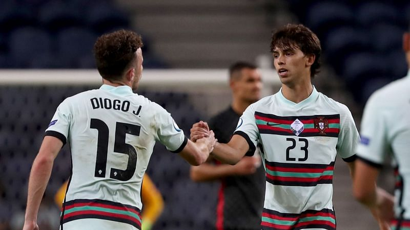 Wolves' Diogo Jota netted his first Portugal goal before Felix made it three with 20 minutes to play