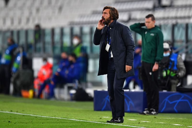 Pirlo endured a forgettable evening on the sidelines, seeing his Juve side limp to defeat against Barcelona