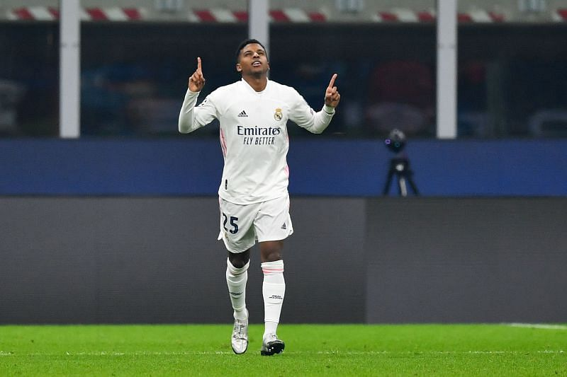 Rodrygo celebrates after making an instant impact off the bench, as Real applied the hammer blow