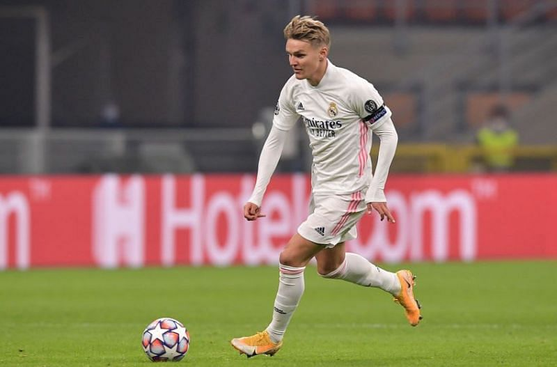 Real midfielder Odegaard delivered a performance to build upon, on his Champions League debut here