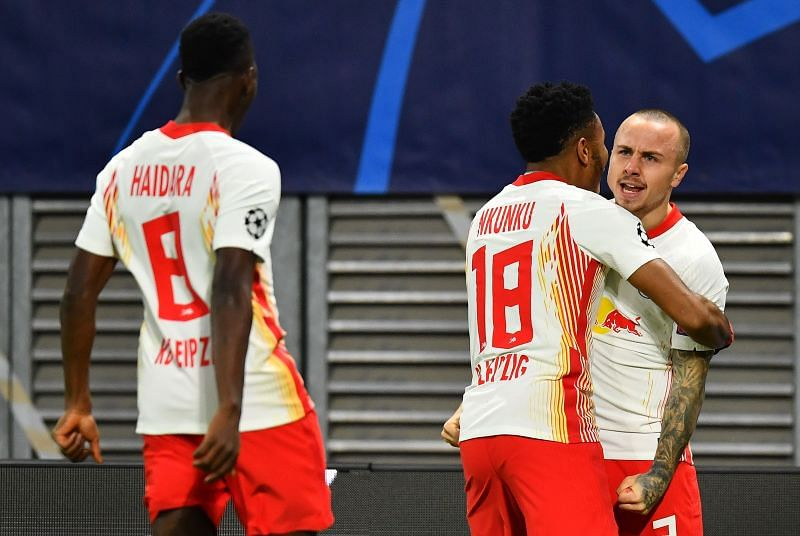 Leipzig raced to an early lead after Angelino's beautiful finish two minutes in, and United couldn't cope