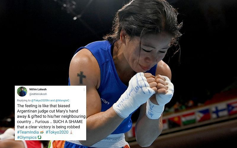 """""""Biased judge"""": Twitter slams boxing judges for costing Mary Kom quarter-final spot at Olympics 2021"""