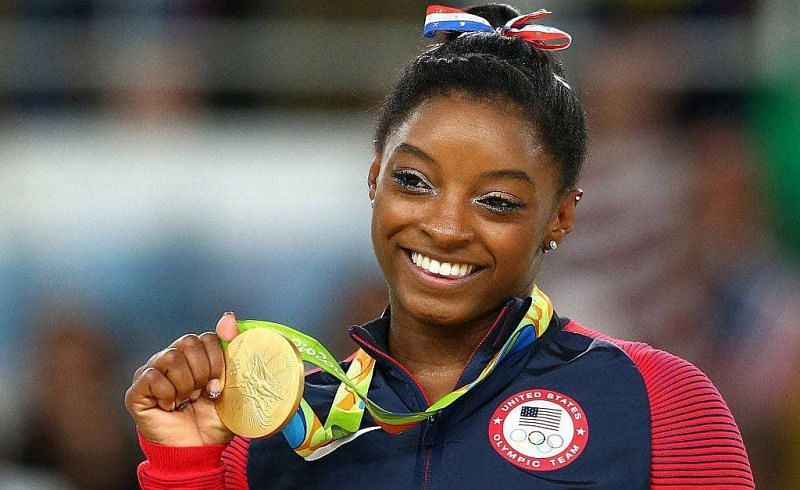 Simone ecstatic after clinching gold in the 2016 Rio Olympic games