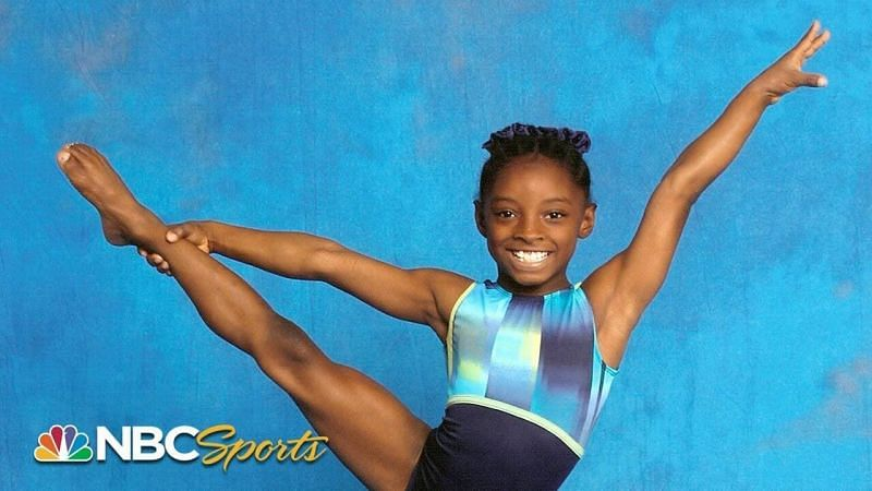Simone at six-years-old training in gymnastics PC: NBC Sports