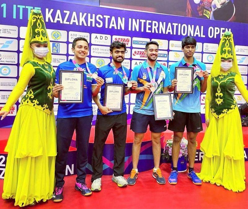Indian table tennis players win bronze medals in Kazakhstan International Open