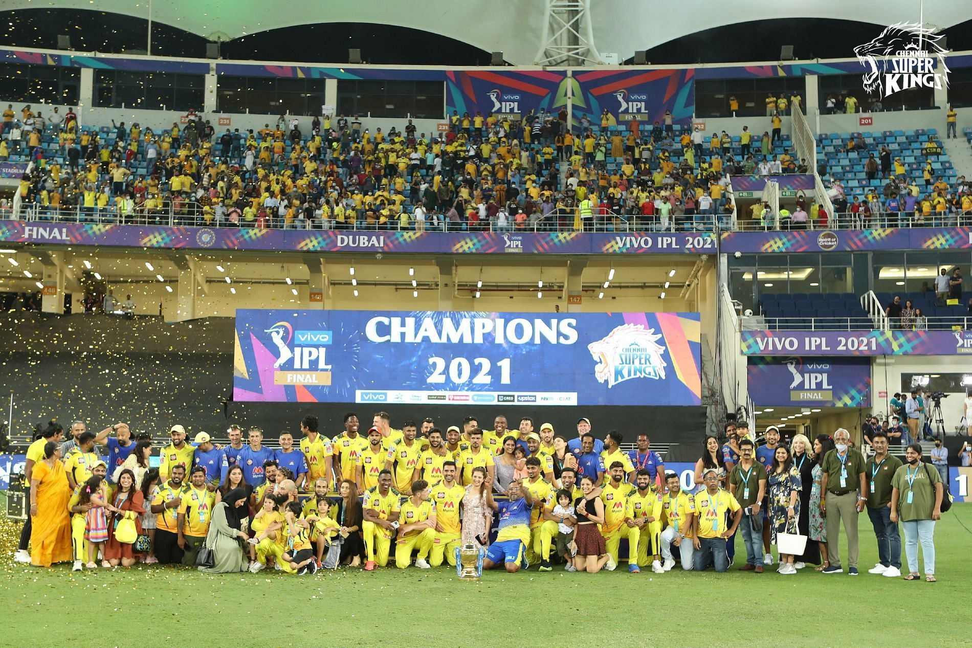 IPL 2021: [In Pics and Videos] Chennai Super Kings (CSK) celebrate after winning 4th title