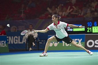 Saina loses in All England quarters