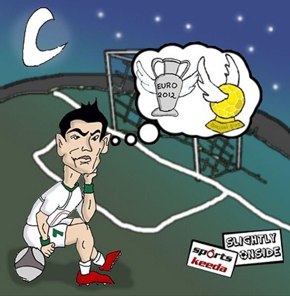 ronaldo waits for the penalty