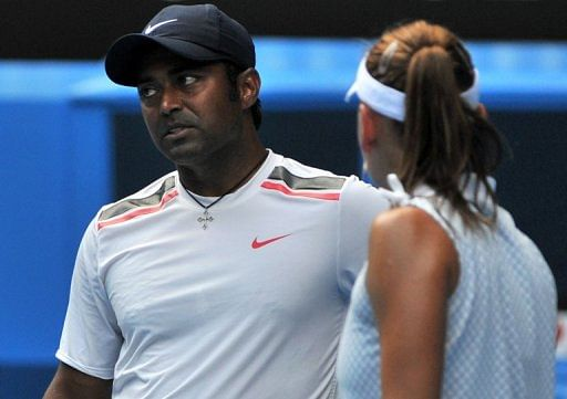 Leander Paes (left) is ranked seventh in the world as a doubles player