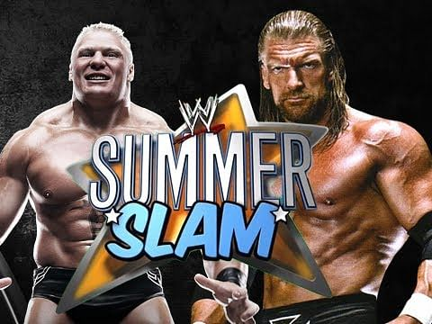 Young Brock Lesnar Hhh vs brock lesnar: a decade
