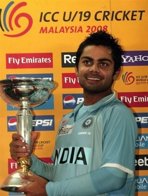 Virat Kohli - the U-19 captain. Image Courtesy: Sportskeeda