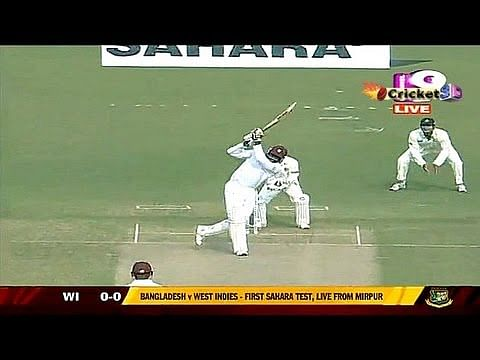 VIDEO: Chris Gayle hits a six off the first ball of Test match