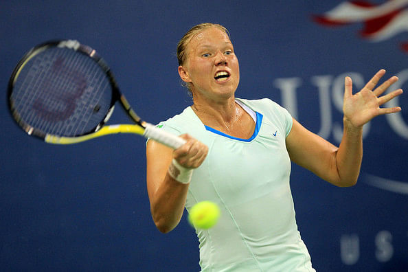 Sally Peers vs Kaia Kanepi, Australian Open WTA - 15 Jan 2014