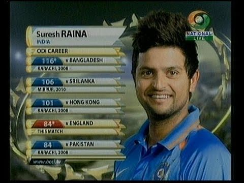 VIDEO: India vs England - Suresh Raina's innings