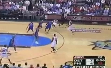 Basketball Moves Breakdown: Iverson takes 2 screens and pulls up