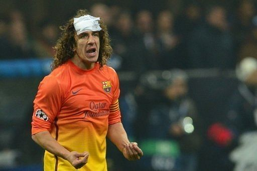 Stunned Barca slam pitch after Milan loss