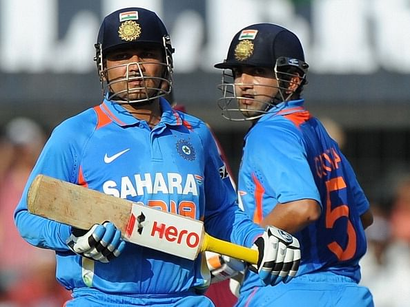 FILE PHOTO  Virender Sehwag and Gautam GambhirVirender Sehwag And Gautam Gambhir