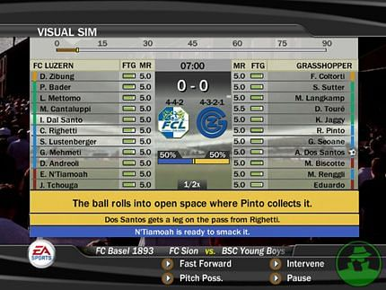 Visual Sim Feature in FIFA 07
