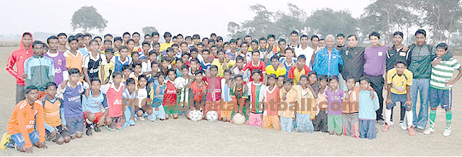 Football festival in Pandua village in West Bengal