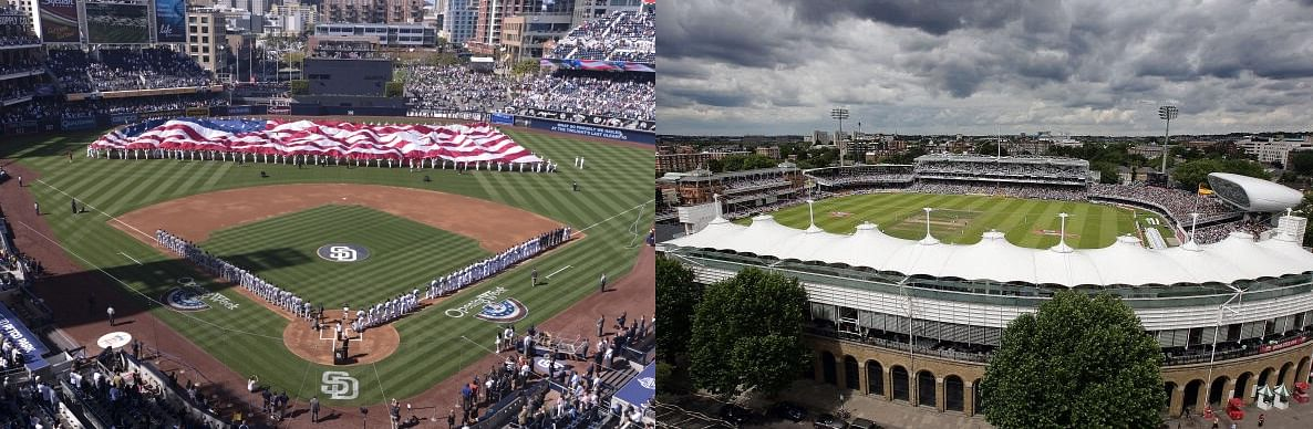 A baseball diamond vs a cricket ground: Which is the more popular of the two?