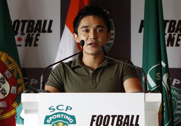 Never had any urge to get past any landmark: Chhetri