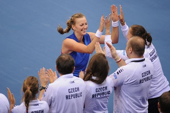 Czech Republic lead Italy 2-0 in Fed Cup semifinal