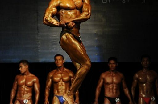 Myanmar's musclemen flexing for glory