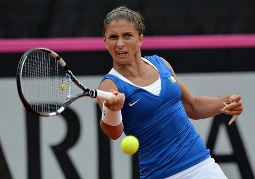 Czech lead Italy 2-0 in Fed Cup semis