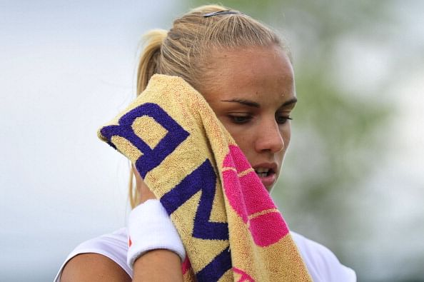 Netherland's Arantxa Rus reacts after he